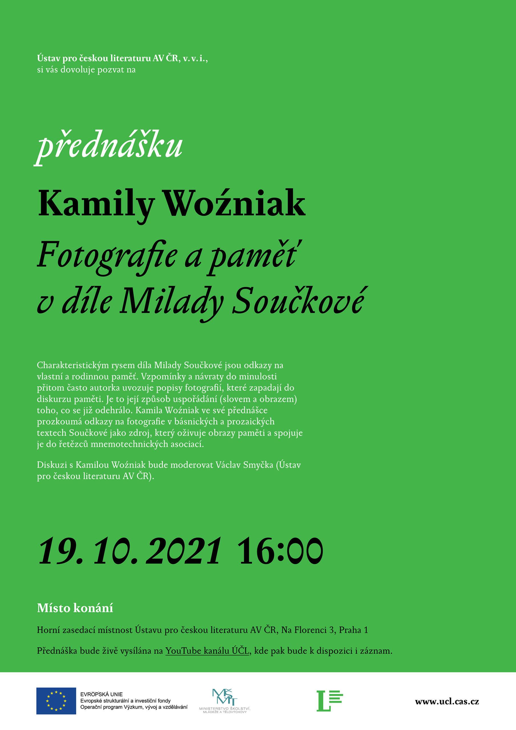 Kamila Wozniak přednáška